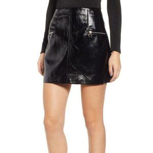 NWT Blank Nyc Faux Patent  Leather Mini Skirt